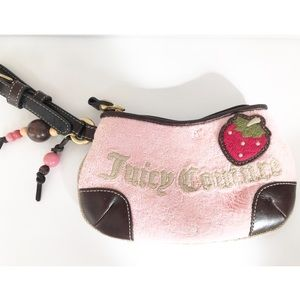 Juicy Couture Strawberry Patch Pink Wristlet